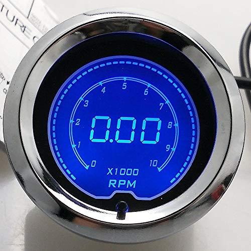 2'(52 mm) LCD Digital 7 Color Pantalla Tacómetro RPM Gauge Car Motor Gauge para el Carro del Carro Barco
