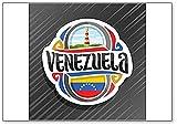 Imán clásico para nevera con diseño de faro de la bandera venezolana en Punta Zaragoza
