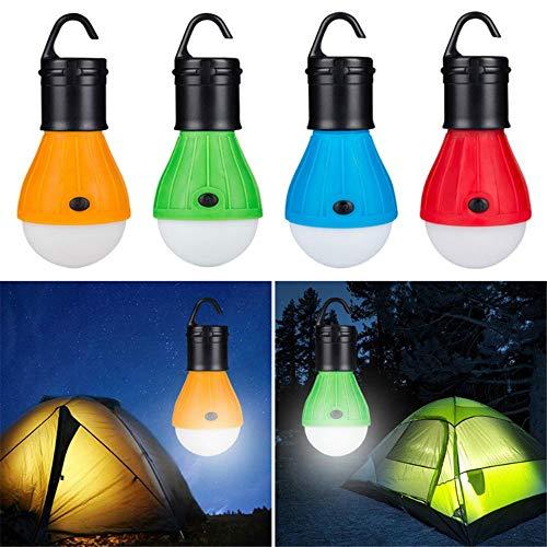 Lampara Luz Cámping Portátil para Luz de Trabajo Exterior Emergencias Senderismo Pesca y Más Aventura Apagón de Corriente Garaje (4 Colors Mixed)