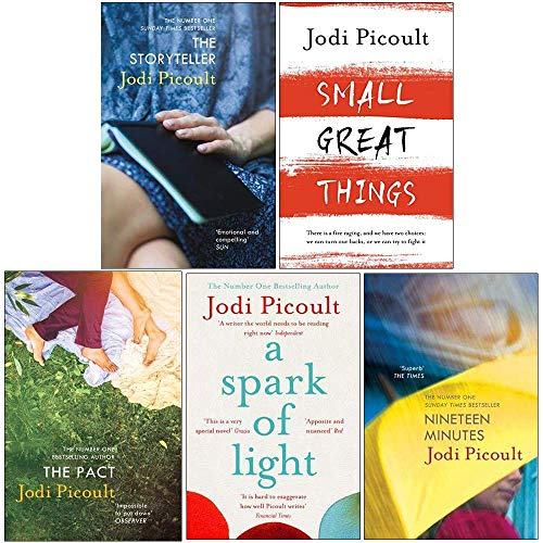 Jodi Picoult Collection 5 Books Set (The Storyteller, Small Great Things, A Spark of Light, Nineteen Minutes, The Pact)