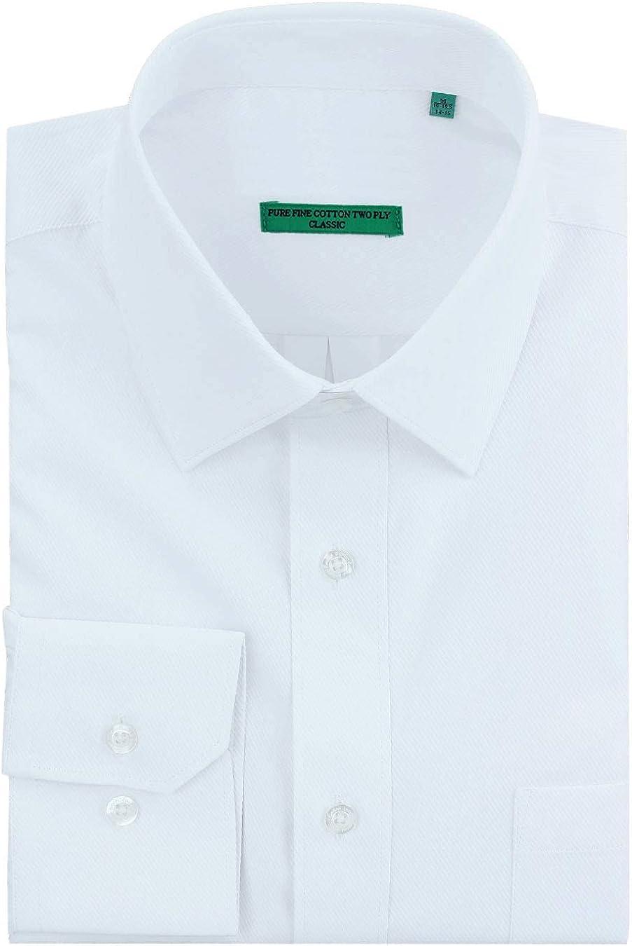 DTI BB Signature Men's Classic Fit Pure Cotton Tone On Tone Stripe Dress Shirt