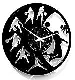 Reloj de pared de vinilo Vintage Handmade Amueblar Hogar Oficina Sport NBA Basketball Baloncesto