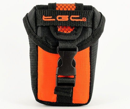 TGC Oranje & Zwart Camera Case voor Compacte Sealife DC1400 DC1200 Camera's met Riem Loop + Foam Padding