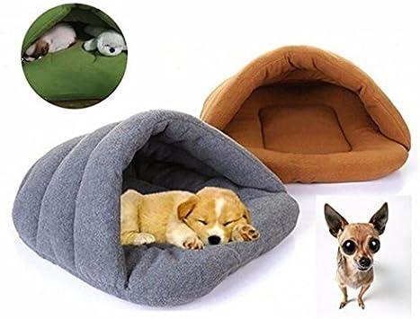 Cueva de Mascotas Cama Deslizante en Forma de Perro Suave y C/álida Suministros para Mascotas Casa del Gato Legendog Camas para Mascotas S-L