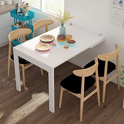 XLAHD Computerarbeitsplätze Wandmontierter Klapptisch, klappbarer Küchen-Esstisch, umwandelbarer Schreibtisch, unsichtbarer Computertisch für kleine Räume