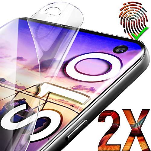 UTECTION 2X Pellicola Protettiva per Samsung Galaxy S10 (6.1') - Installazione dell'Acqua ** Non Vetro ** Schermo Ultra Clear Anti-graffio - Senza Bolle d'Aria - Formato preciso - Film Trasparente