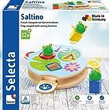 Selecta 62072 Saltino, Frosch-Katapult, Motorikspielzeug aus Holz -