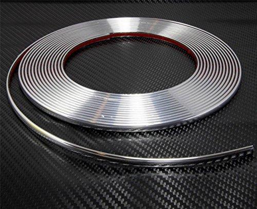 Unbranded Chrom Zierleiste 10 mm x 5m selbstklebend universal Auto Chromleiste