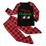 Pijamas Navidad para Familias Invierno Otoño Top+Pantalones Ropa de Dormir para Mamá Papá Niños Bebé Conjuntos Navideños Pijamas de Navidad Conjuntos de Ropa Familiar a Juego