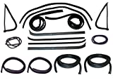 78 gmc truck parts - Make Auto Parts Manufacturing Set of 16 Driver and Passenger Side Belt Weatherstrip Window Channel Door Seal Kit with Chrome Strip for Ford F-Series F100 F150 F250 F350 F500 1973-1979