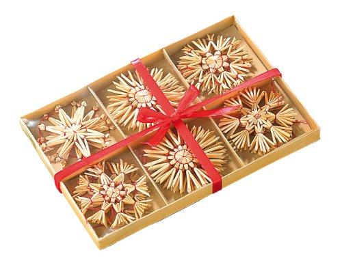 infactory Strohstern: 24 Festliche Strohsterne für den Weihnachtsbaum (Strohsterne handgefertigt)