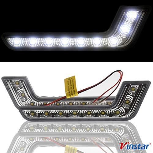 LED Tagfahrlicht L Form R87 kompatibel mit SMART 450 454 451 452 MINI COOPER R50 R53 R55