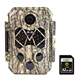 TIDEWE Trail Camera with 32GB SD Card, 32MP 4K Hunting Camera with 0.2s Trigger 3 PIR, 120° Range...