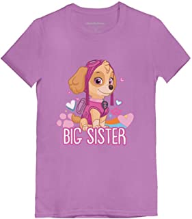 Official Paw Patrol - Skye Big Sister Toddler/Kids Girls' Fitted T-Shirt