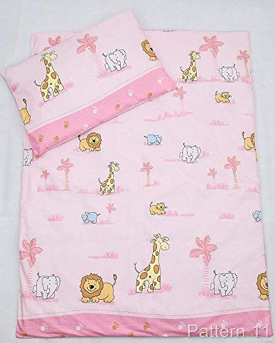 2 Piece 150x120cm Duvet Cover & Pillowcase Set for Toddler Junior Cot Bed