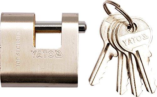 Yato yt-6984–80mm und Stahl Vorhängeschloss–4Schlüssel