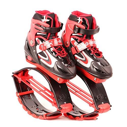 FBEST Rebound-Schuhe Kangoo Jumps Kinder springen Stelzen Fitness Übung Prellen Gewicht Last Bereich 30-50kg,Red