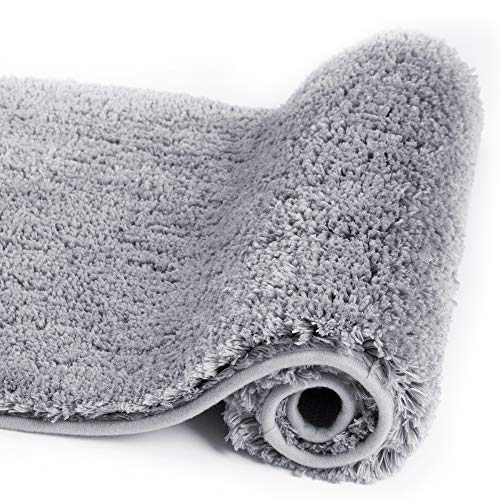 Walensee Bathroom Rug Non Slip Bath Mat for Bathroom (16 x 24, Grey)...