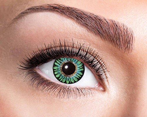 Natürliche, farbige Kontaktlinse hellgrün, Jahreslinse, 14,5 mm ohne Dioptrin
