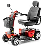 Pride Mobility - Victory 10 LX with CTS Suspension - Full-Sized Scooter - 4-Wheel - Candy Apple Red