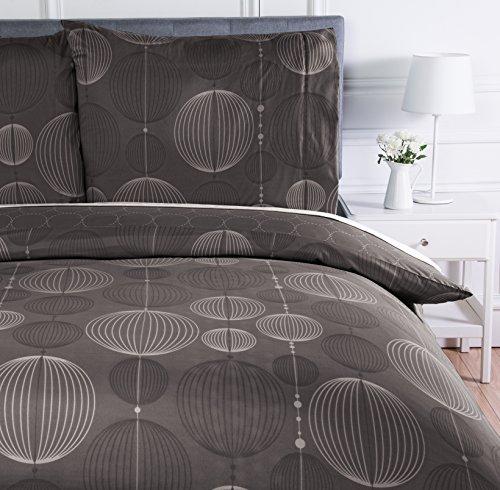 Amazon Basics - Bettwäsche-Set, Mikrofaser, 135 x 200 cm, Leicht Mikrofaser, Industrial-Grau