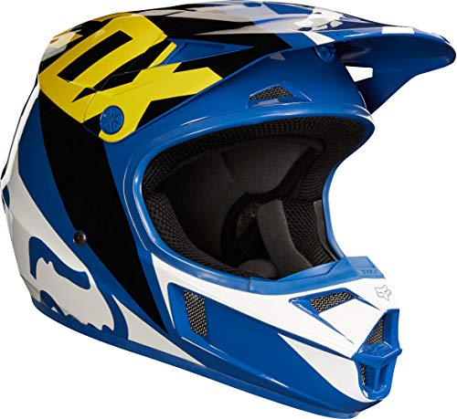 Fox Helmet Junior V-1 Race, Blue, Größe YS
