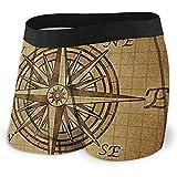 Web--ster Boxer Vintage Compass Navigation Men 'S Boxer Stretch sous-vêtements Respirants Confortables
