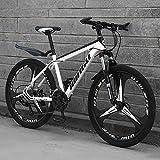 Mrzyzy Adulto Bicicleta De Montaña, Bicicleta De Montaña De 24 Pulgadas 21/24 Velocidad Cuatro Opciones, La Suspensión Completa De Bicicletas De Montaña, Doble Disco De Freno, Asiento Ajustable