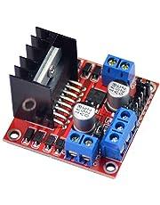 L298Nモータードライブコントローラーボードモジュール デュアルHブリッジDCステッピングモータードライバー Arduino Raspberry Piスマートロボットカー用