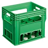 12 Compartment 750ml Wine Bottle Plastic Stacking Bottle Crate – Perfect for Wine, Glasses, Beer, Recycling Box, Bottle Bank, Bottle Storage, Homebrew, Catering, Milk (2)