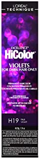 L'oreal Paris Excellence Hicolor Permanent Hair Color, True Violet