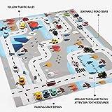 Bloomma Kinderteppich Spielteppich City Life Ideal zum Spielen mit Autos und Spielzeug Spielmatte Autoteppich mit Roadfit für Zuhause/Kindergarten