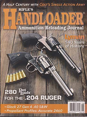 Rifle's Handloader Magazine August 2018 No.315