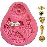 Anyana diamond Baking Molds mini jewel brooch Silicone Fondant molds cabochon Cake Decorating Tools...