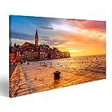Bild auf Leinwand Schöner Sonnenuntergang in Rovinj an der