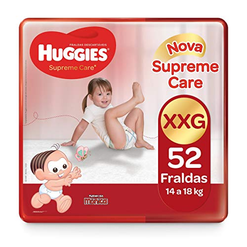Huggies Fralda Supreme Care Hiper XXG, 52 Fraldas