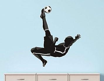 Design With Vinyl Rad 1204 3 Soccer Player Kick Ball Sport Boy Girl Vinyl Wall Decal 20 X 30 Black Home Improvement