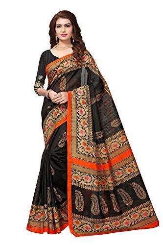 Indianstore24 Indische Bollywood Hochzeit Saree indische ethnische Hochzeit Sari Neue Kleid Damen lässig Tuch Geburtstag Ernte Top Mädchen Frauen schlicht traditionelle Party Wear Readymade Kostüm (black)