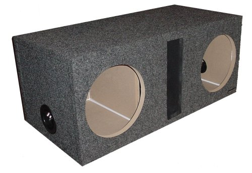 R/T 300 Enclosure Series 324-12 - Dual Slot Vented 12-Inch Sub Bass Hatchback Speaker Box