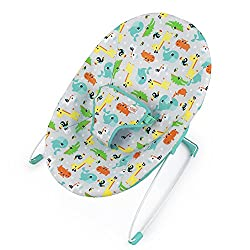 Cradling seat design provides support and comfort for baby Bouncing motion entertain baby Lightweight for easy portability 3-Point harness and non-slip feet for safety Easy assembly - no tools required!