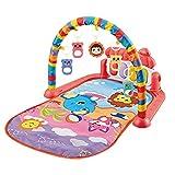 Alfombrillas para actividades de gimnasio para bebés, Pedal Piano Music Rack de fitness Alfombrilla para gatear con juguetes colgantes desmontables, Adecuado para bebés de 0 a 3 a 6 meses de edad
