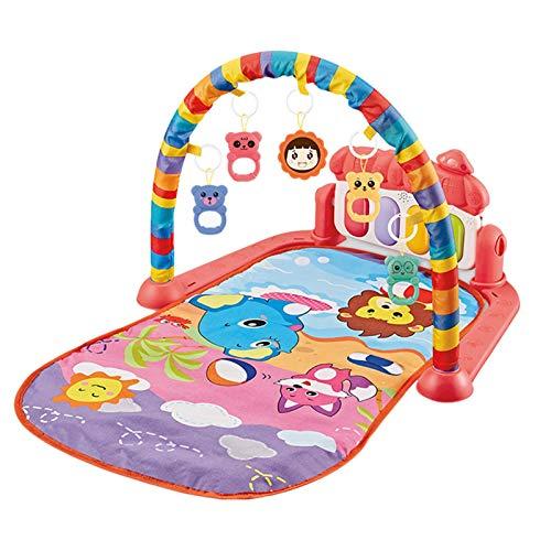 Allowevt Alfombra de juego para bebés Gimnasio de actividades para bebés Alfombra de juego para bebés Patada y juego de piano Gimnasio Gimnasio para bebés Centro de actividades suave con method