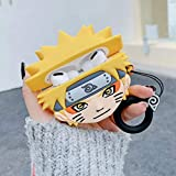AirPods Pro Case,SGPCN Naruto Silicone Case for AirPods Pro,Funny Cute Fashion Keychain Design Skin New 3D Character Uzumaki Naruto AirPods Pro Cover for Girls Kids Teens AirPods 3 (Naruto)