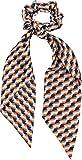 styleBREAKER Ladies cravatta per capelli con motivo retrò e fiocco, elastico, elastico, elastico, treccia, sciarpa a triangolo, fascia per capelli 04027015, colore:Arancio-Blu-ruggine