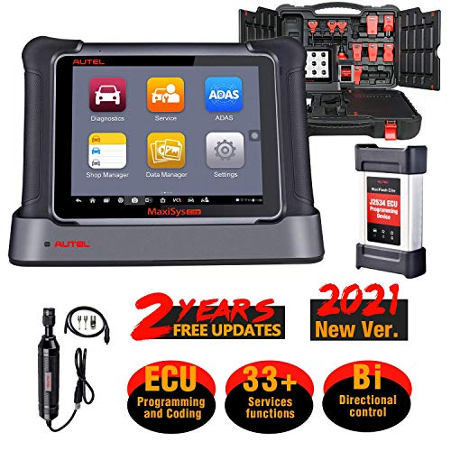 Autel MaxiSys Elite Automotive Scan Tool, 2 Years Updates, 2021 Newest Upgraded of MK908P, J-2534 EC