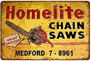 Roovtap Cartel de Metal Cartel de Chapa Granja Granja Garaje Tienda Motosierra Decorativa Cartel de Metal Cartel Vintage E...
