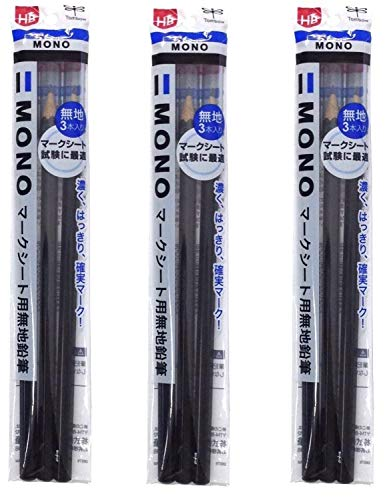 トンボ鉛筆 マークシート用鉛筆 MONO KN無地 HB ACA-312 3本× 3個 セット