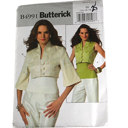 Butterick B4991 Schnittmuster für Damenweste und Jacke, Größe EE 42, 44, 46, 48, 50