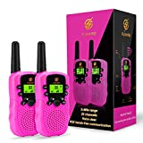 Girls Gifts Age 4-7, dmazing Walkie Talkies Toy with Backlit LCD Flashlight 3 Miles Range for...