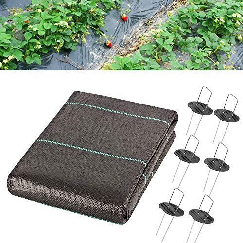 LIFedre 2mx10m Gartenvlies Unkrautvlies, Anti-Unkrautgewebe Unterbodengewebe Wasserdurchlässig gegen Unkraut, 100g/m² UV-Stabilisierung Reißfestes Bodengewebe Unkrautfolie für Gärten, Bürgersteige
